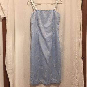 Roberta Formal sleeveless dress size 13/14 blue